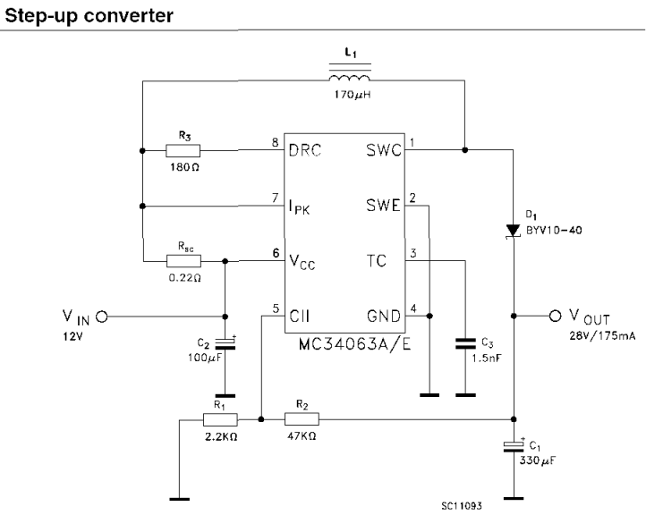 MC34063 - Схемы на логике